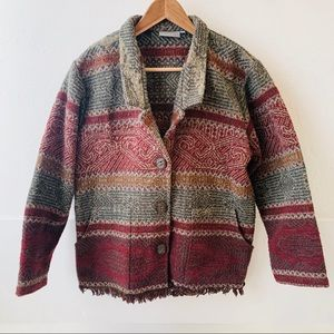 Ivy jacket blazer wool blend southwest tribal M